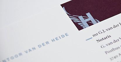 Huisstijl Notariskantoor Van der Heide