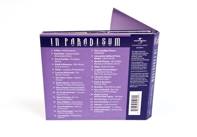 Achterkant CD digipack In Paradisum