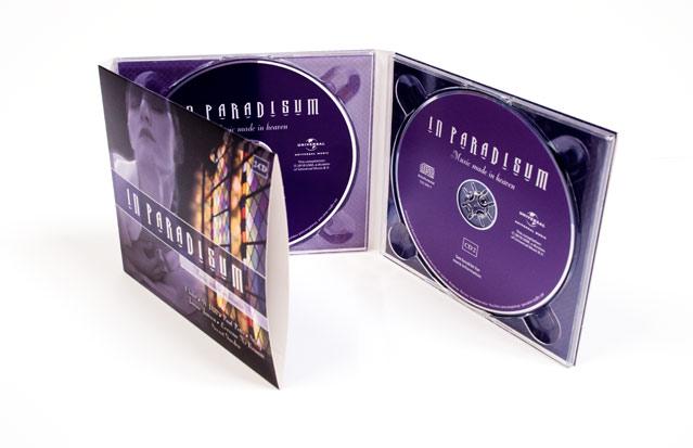 Voorkant en binnenwerk CD digipack In Paradisum