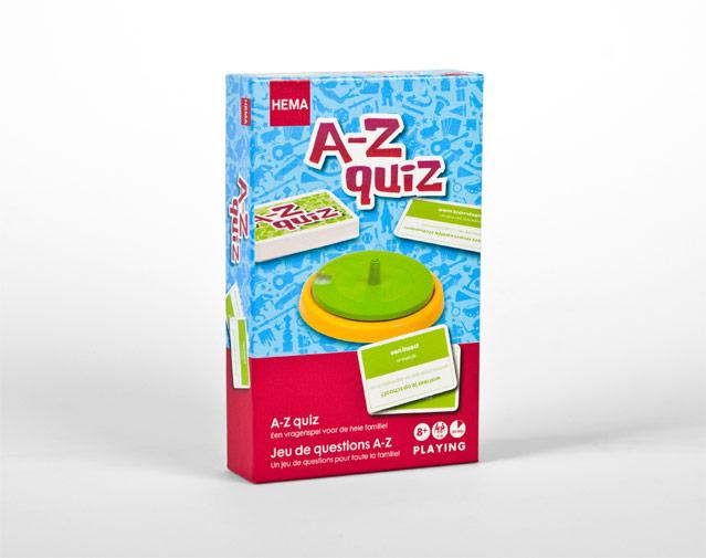 Hema verpakking A-Z quiz