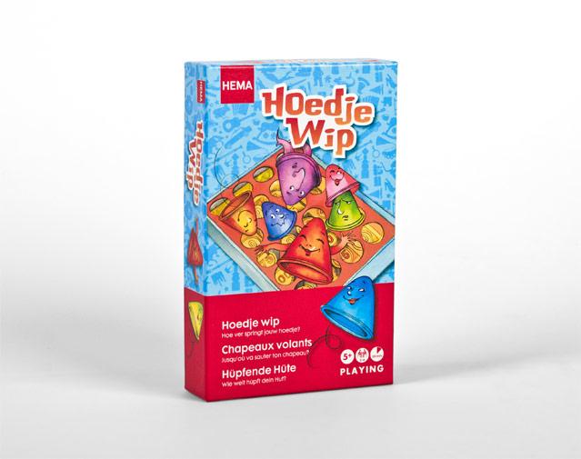 Hema spel verpakking hoedje wip