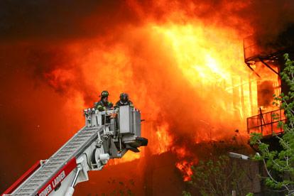 uitslaande brand wordt geblust