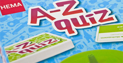 Hema spel A-Z Quiz