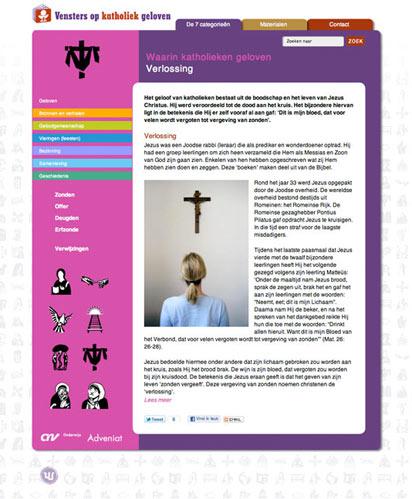 categoriepagina vensters op katholiek geloven
