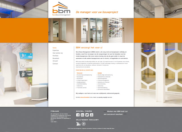 homepage buro bouw management